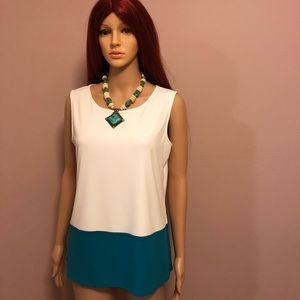 Calvin Klein color block jersey shirt medium